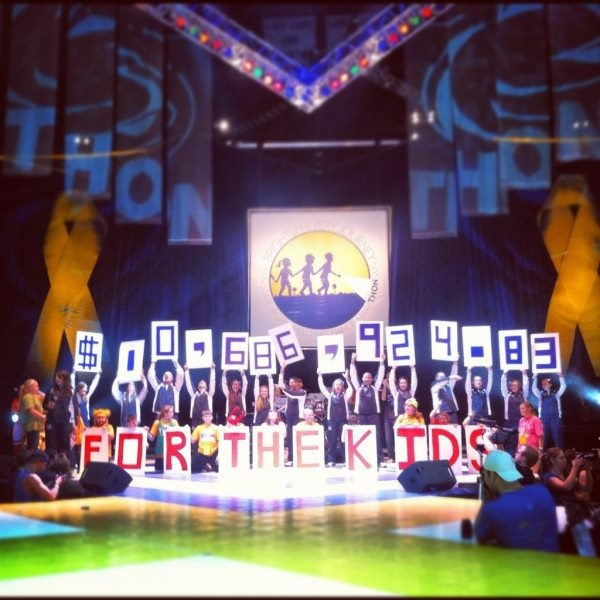 my school raised $10.68 million to help find a cure for Pediatric Cancer this weekend. what did yours do?  FTK. THON 2012.