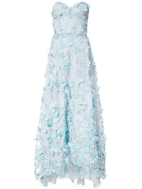 cf01b40b61b8a MARCHESA NOTTE embroidered floral appliqué gown.  marchesanotte  cloth