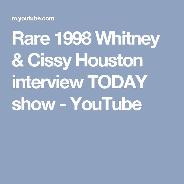 Rare 1998 Whitney & Cissy Houston interview TODAY show - YouTube