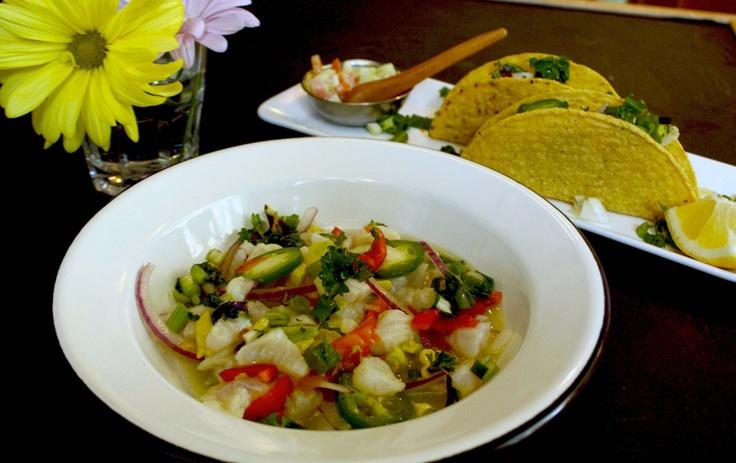 Mexican Ceviche and Ceviche Taco | Photo: Nevila Rebi