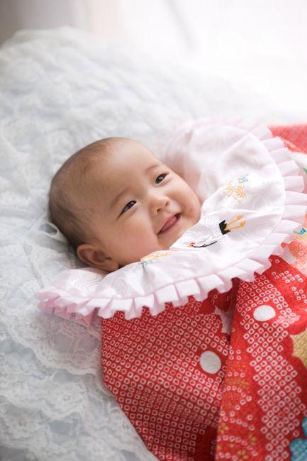 お宮参り、100日祝いで生後3ヶ月の赤ちゃん画像♪