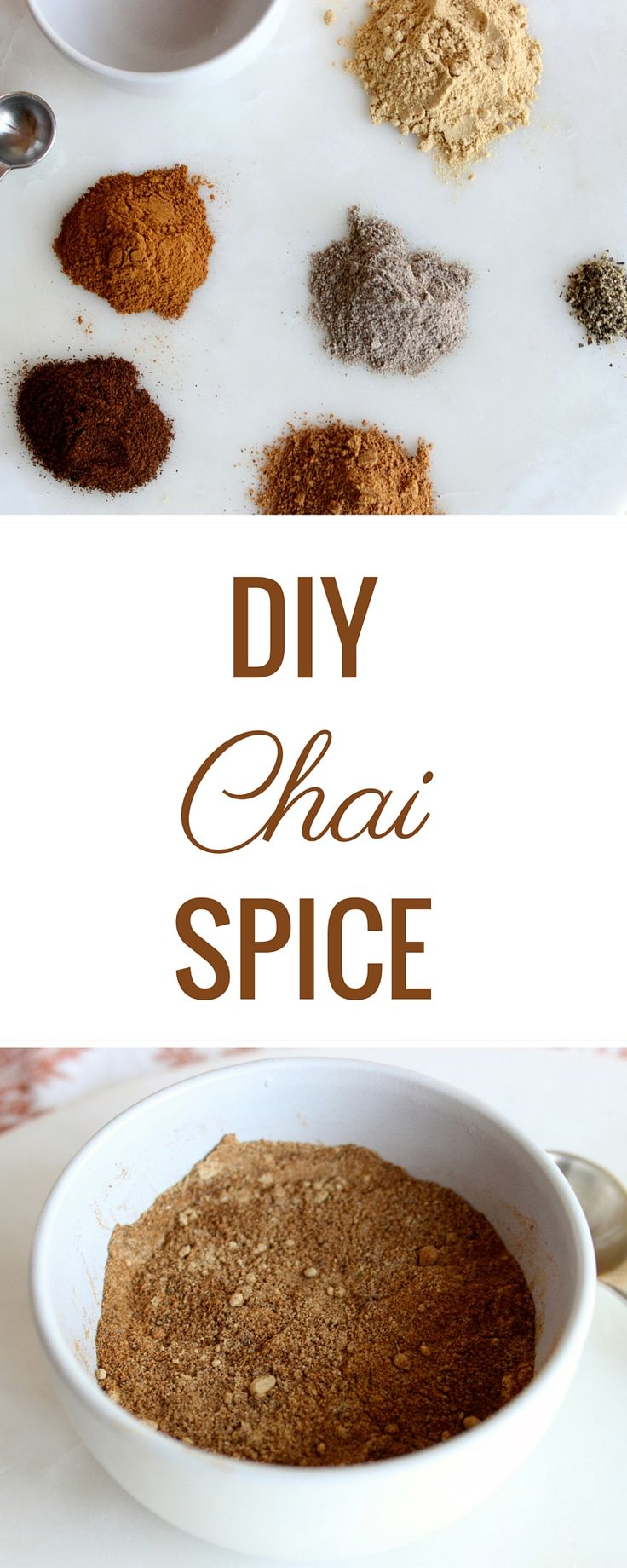Easy DIY Chai spice blend is perfect to make lattes, oatmeal, yogurt, and more taste like chai!