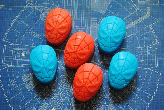 6 x savon super héros - Spiderman