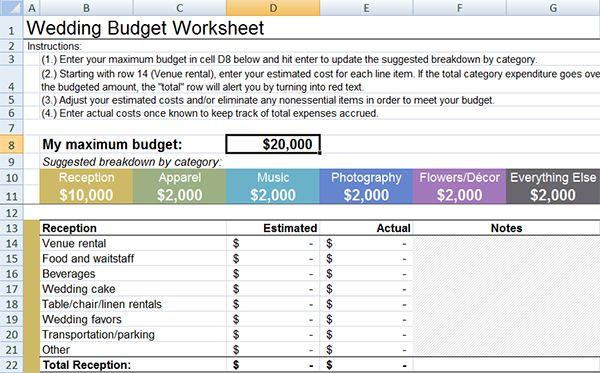 Top 5 Wedding Planning And Budget Checklists: Best 25+ Wedding Budget Templates Ideas On Pinterest