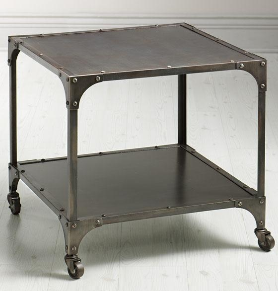 Exceptional Industrial Louis End Table Love This Unique Metal Table Design