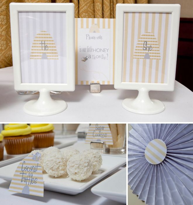 What Will It BEE Gender Reveal Shower Love The Striped Hive Tags