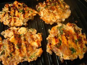 Grilled Salmon Burgers on george foreman   NOSH   Pinterest
