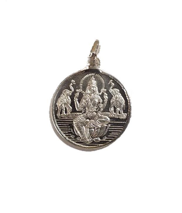 Traditional Shri Laxmi Yantra Pendant Pure Silver Energized and Blessed Locket