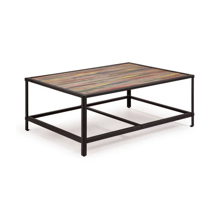 A perfect place to set your German beer or espresso amidst coffee table books, or maybe even maps and travel guides. The multi-colored, distressed wood and metal base complement your industrial chic li...  Find the Bunker Coffee Table, as seen in the Industrial Chic Collection at http://dotandbo.com/collections/industrial-chic?utm_source=pinterest&utm_medium=organic&db_sku=95329