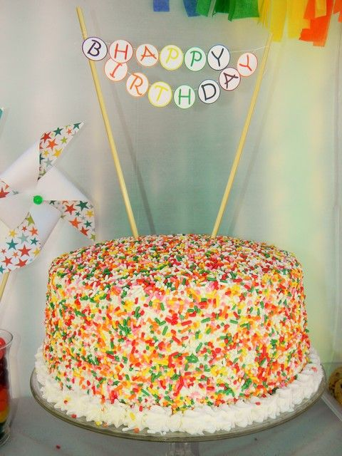 Sprinkle cake Birthday Party! !