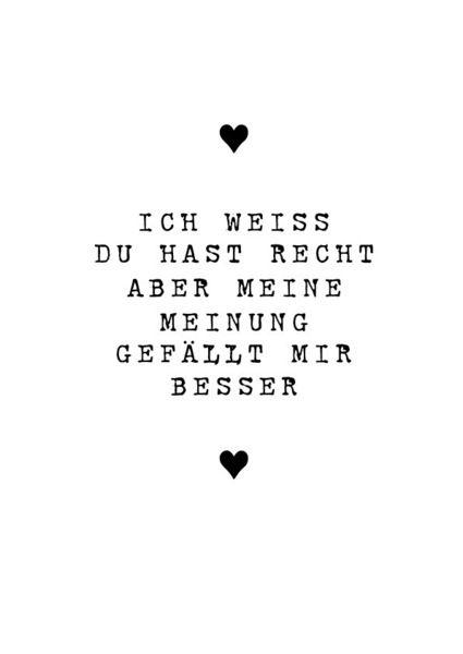 """Druck *Ich weiß Du hast Recht"""" Valentinstag von PAP-SELIGKEITEN – Schönes auf Papier auf DaWanda.com"""