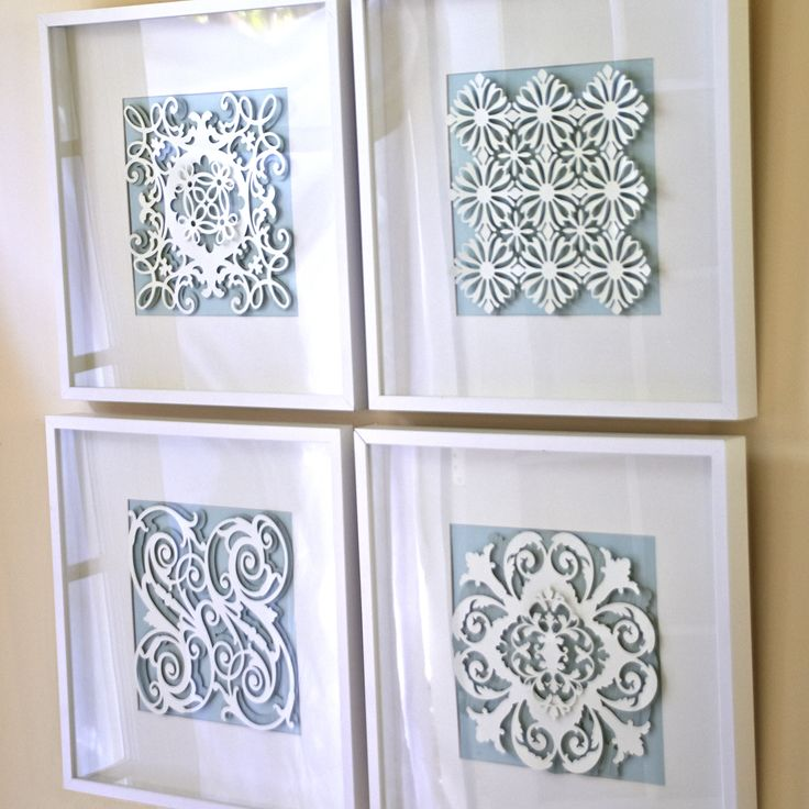 Anna Griffin Wall Art Layout. Click here to make it now with the Cricut Explore: https://us.cricut.com/design/#/landing/project-detail/8190