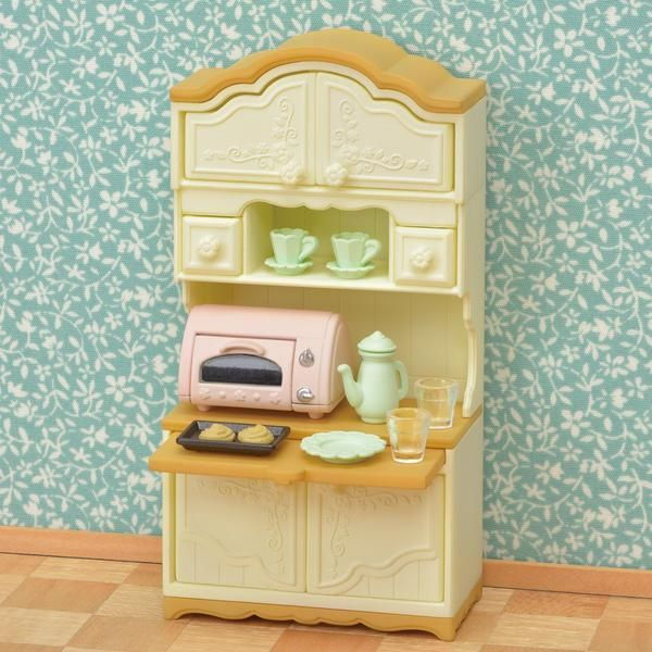 Sylvanian Families White Kitchen Cupboard Set