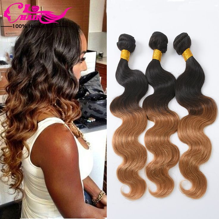 1b/27 Ombre Brasilianisches Haar Körperwelle Billig Haar Bündelt 3 Pc Lot Gute qualität Ombre Menschliche Haarwebart Aliexpress Brasilianische haar