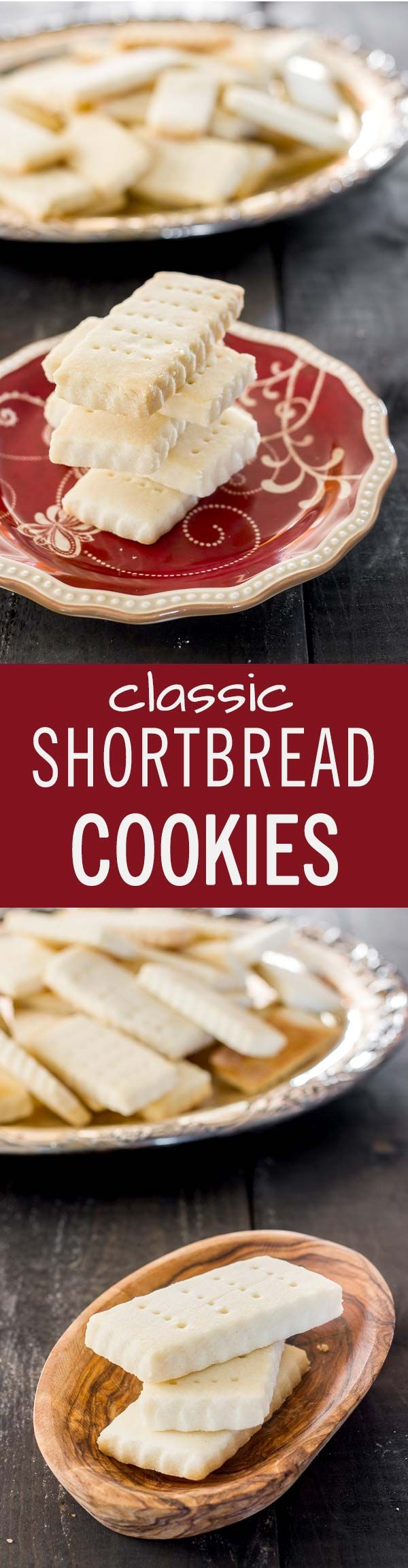 A classic recipe for the best shortbread cookies. They're buttery, sweet, delicious and best of all, homemade.