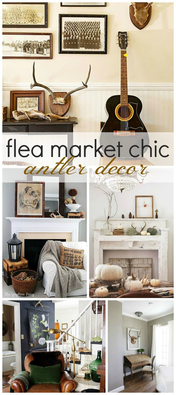 1000 ideas about antler decorations on pinterest antler for Flea market home decor