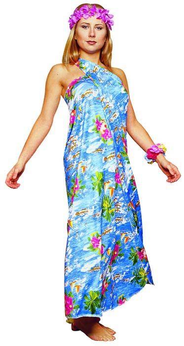 Fun 'n Folly Hawaiian Sarong Costume
