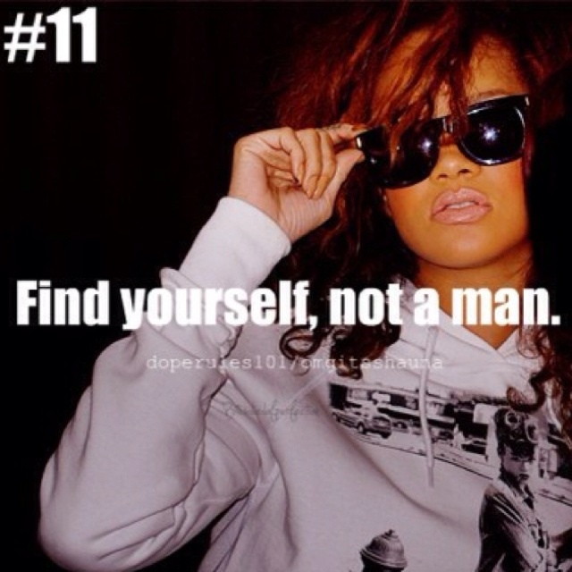 If women could understand this one thing.- find your identity, THEN get involved. If I knew my identity then, I would have never been with the men I was with .