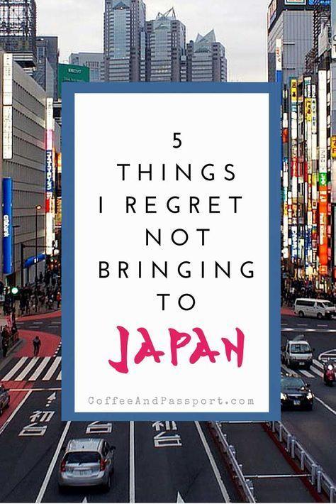 5 Things I Regret Not Bringing To Japan