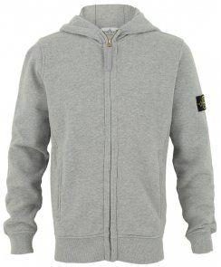 Stone Island Junior Boys Branded Zip-Up Hoodie