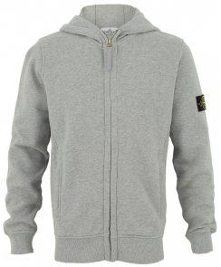 Stone Island Junior Boys Branded Zip-Up Hoodie