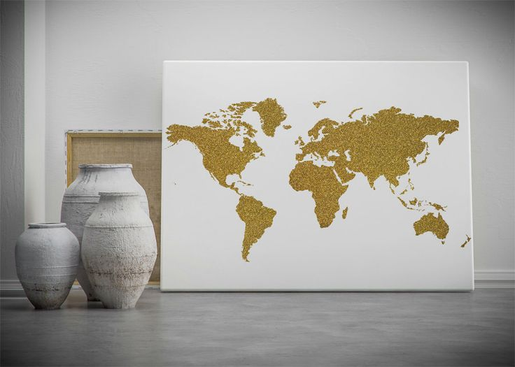 Mejores 113 imgenes de world maps en pinterest mapas del mundo gold world map printable wall art gold glitter world map poster golden world gumiabroncs Choice Image