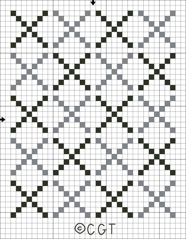 Free Tote Bag Motif Counted Cross Stitch Patterns - Free Printable Charts: Free Cross Stitch Tote Bag Motif Cross Stitch Pattern - Free Printable Chart