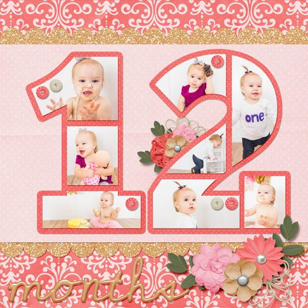Digital Scrapbook Layout   Kit Used: Sweet & Sassy Baby Girl by Ladybug Scraps Template Used: Count on Me Number 12 by Ladybug Scraps http://www.scraps-n-pieces.com/store/index.php?main_page=index&manufacturers_id=21&sort=20a&viewAll=true
