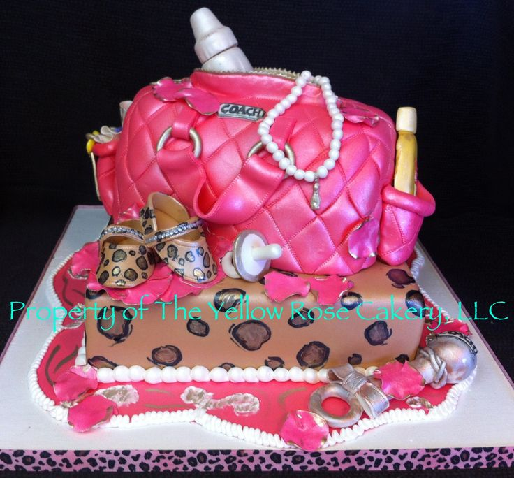 Coach Bag Baby Shower Cakes