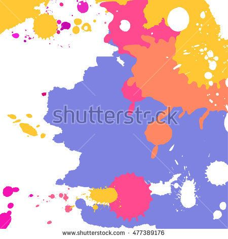 Vector abstract artistic graphic colorful ink drops texture background template