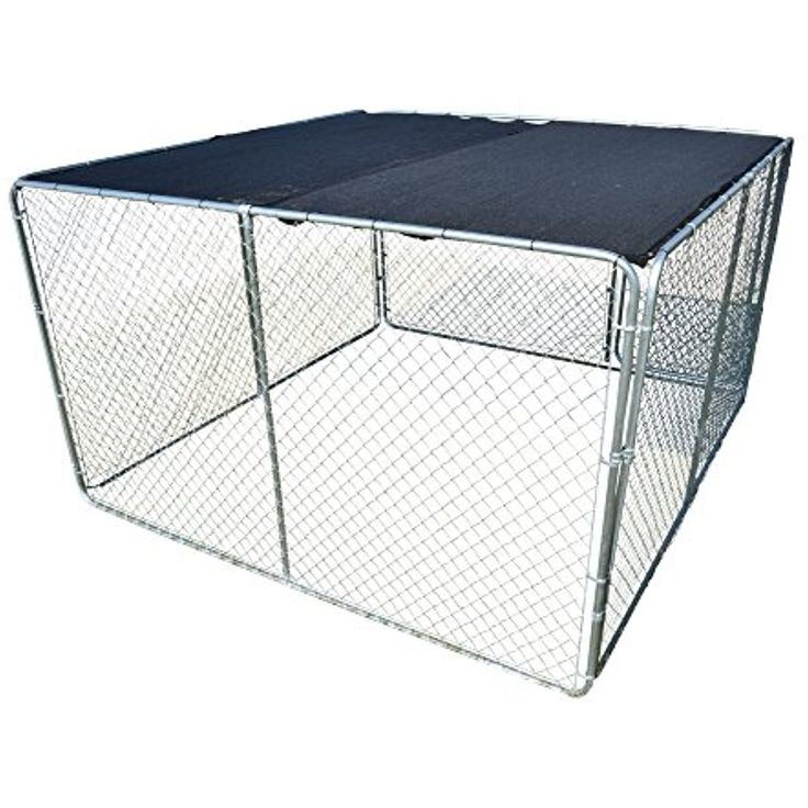 UV Rated 85% Block Dog Kennel Cover Sun Block Shade Top with Grommets and Cable Ties For Installation (10 x 10, Black) -- Want additional info? Click on the image. (This is an affiliate link) #Dogs