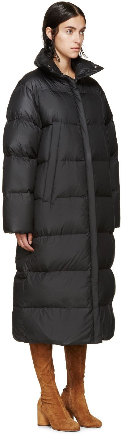 Maison Margiela Black Quilted Down Coat