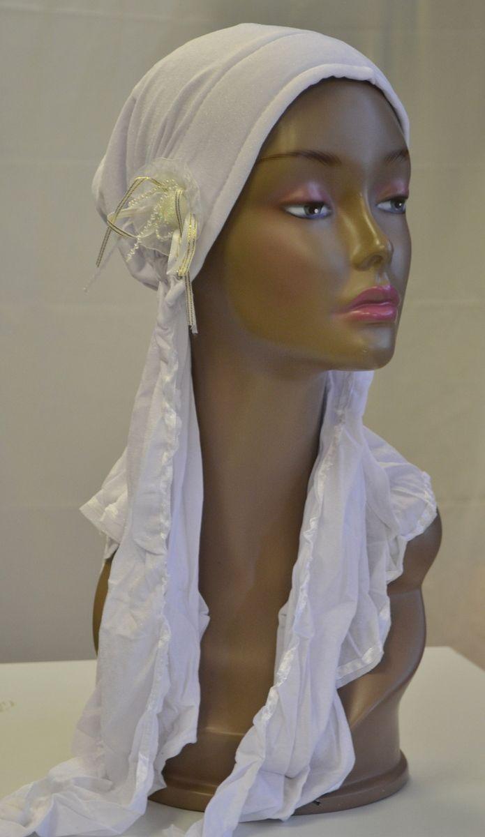 chemo hats   ... Hijab   Chemo Hat Moonlight Shimmer Turban Hijab Chemo Hat - White
