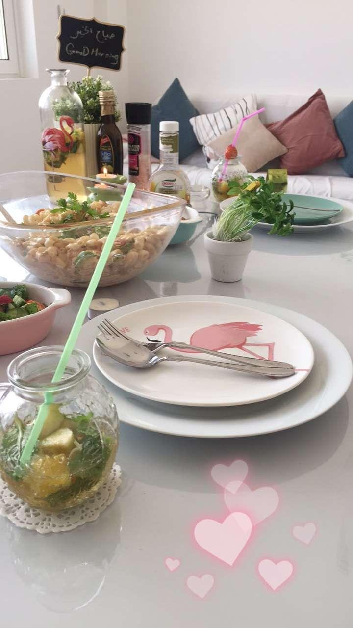 تنسيق لغداء بثيم الفلامنجو تنسيق طاولة طعام فلامينجو سفرة طعام Tabledecore Decore Flamingo Flamingo Decor Table Decorations Decor