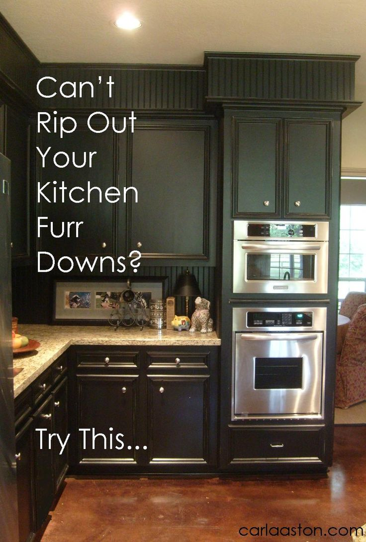 Crown molding on kitchen cabinets before and after - Can T Rip Out Your Kitchen S Furr Downs Do This