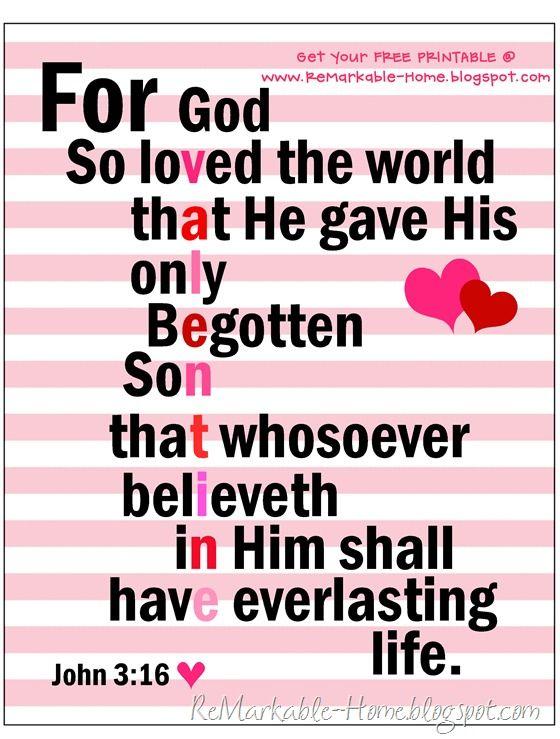 SCRIPTURE LOVE {Free Printable}  {www.ReMarkableHome.net}