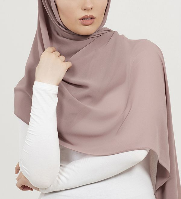 Dusty Pink Soft Crepe Hijab - £11.90 : Inayah, Islamic Clothing & Fashion, Abayas, Jilbabs, Hijabs, Jalabiyas & Hijab Pins