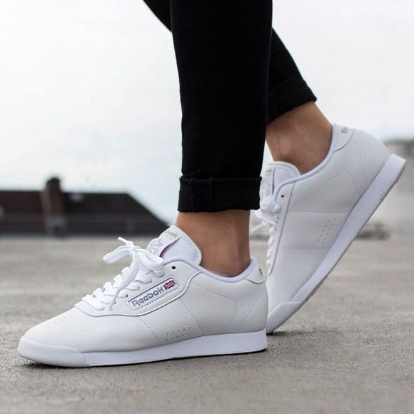 Reebok Shoes Women Fashion Style White Colored This Pair Calls Reebok Women S Princess Classic Is O Reebok Princess White Leather Sneakers Leather Shoes Woman