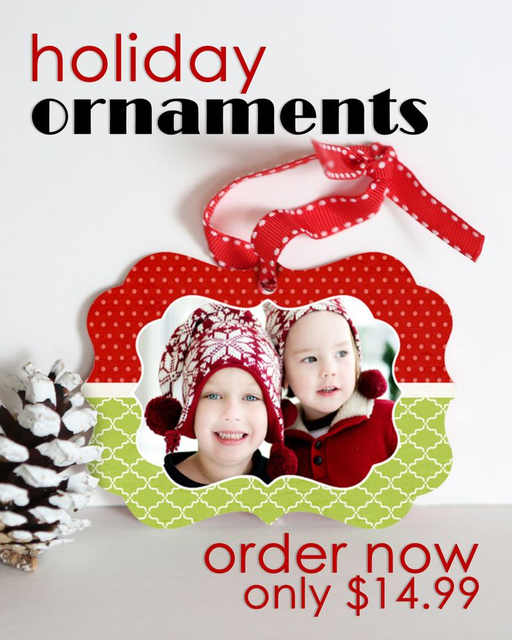 A great way to decorate! Get your favorite photo on an ornament.  Perfect for your own tree or as a gift for friends or family.