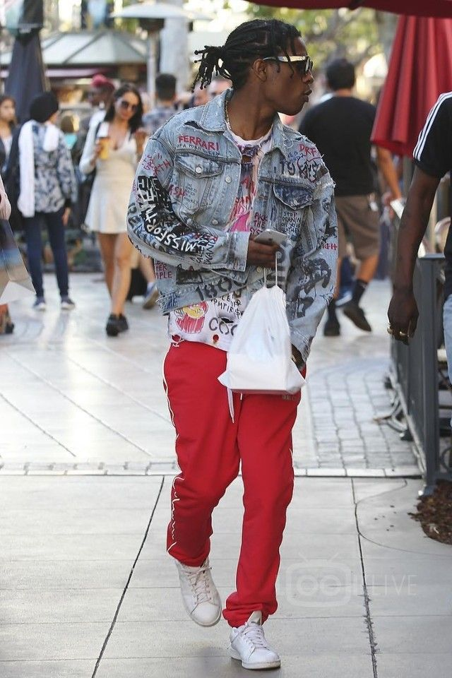 ASAP Rocky wearing  Himumimdead Custom Cocktails