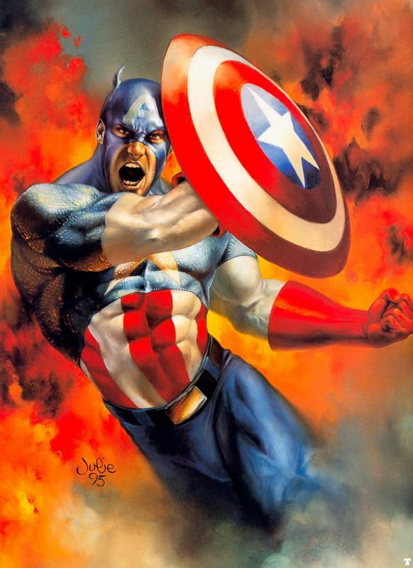 Captain America by Julie Bell