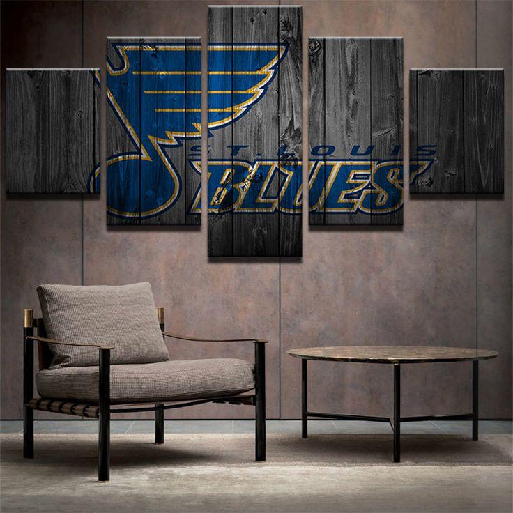 St Louis Blues NHL Team Logo (Wood)