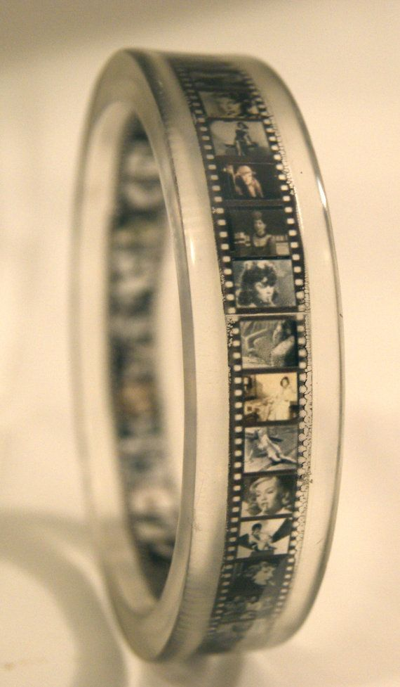 The other film strip brass cuff is sold out...but this is kind of cool too. Available on Etsy.