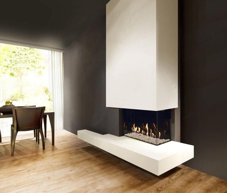 Gas fireplace / corner / closed hearth / contemporary FAIRO ECO-LINE 65 Kal-fire