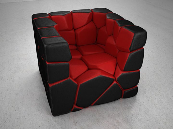 Vuzzle Chair: Christopher Danielu0026 Unusual, But Comfy Looking Chair Is Made  From 59 Individual Components, Held Together By Powerful Magnets.