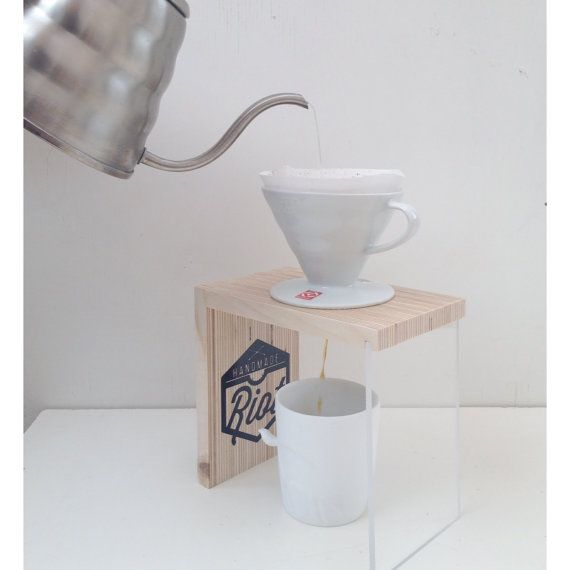 Pour Over Coffee Stand // V60 Stand by HandmadeRiot on Etsy