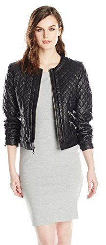 $198, Black Quilted Leather Bomber Jacket: Marc New York By Andrew Marc Sandie Quilted Leather Jacket. Sold by Amazon.com. Click for more info: http://lookastic.com/women/shop_items/181703/redirect