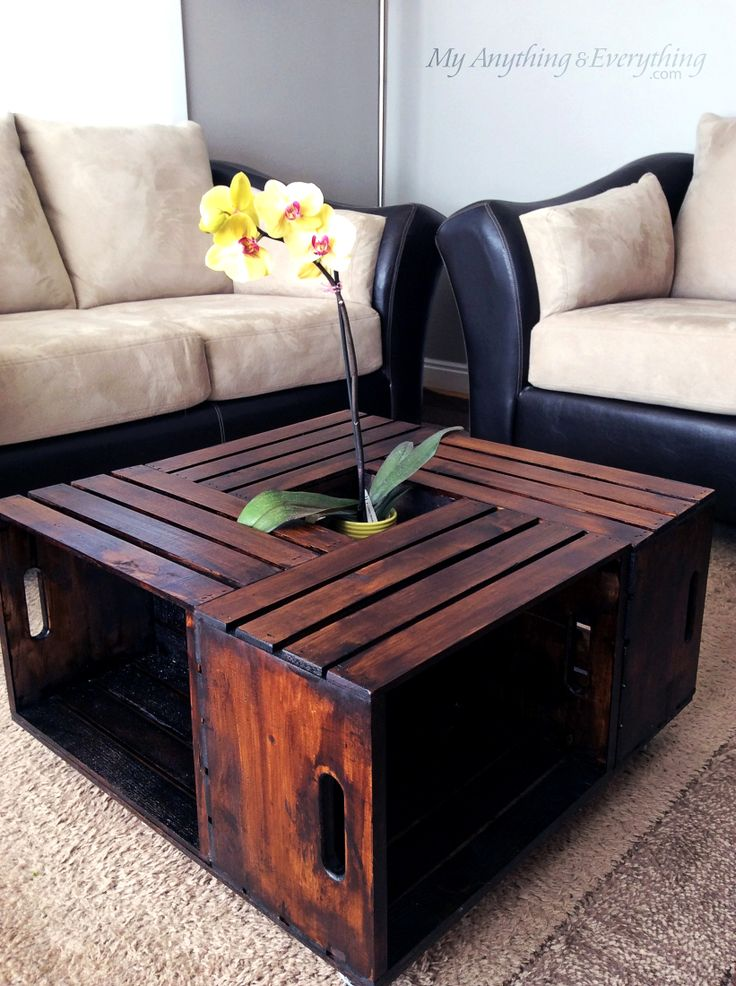 Diy crate coffee table woodworking projects plans Do it yourself coffee table