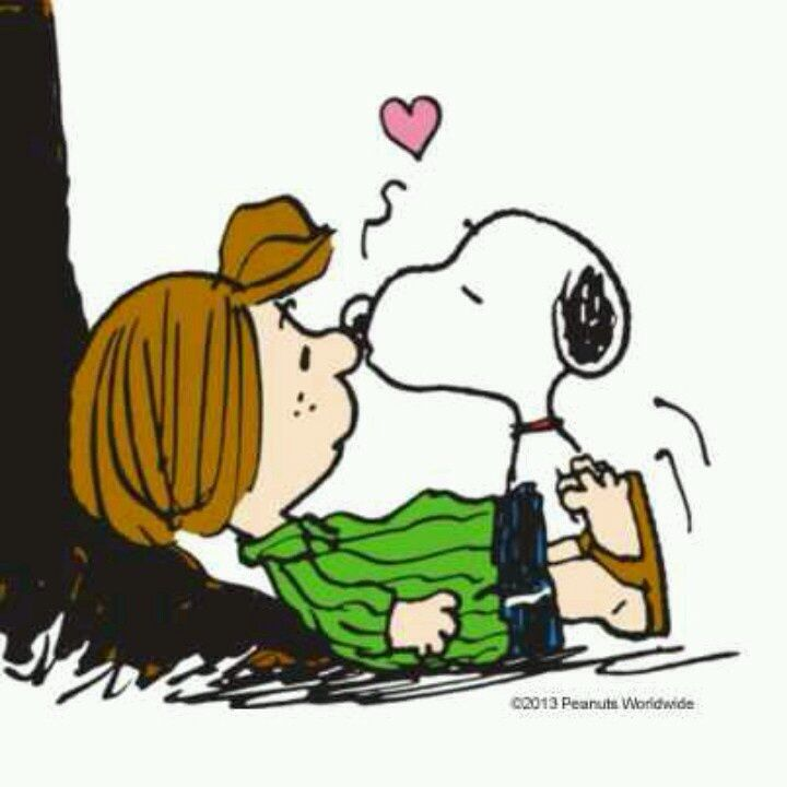 Peppermint Patty and Snoopy, ❤️, the Peanuts