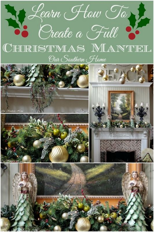 Creating A Christmas Mantel. Mantel IdeasDecor ... & 171 best Christmas at Our Southern Home images on Pinterest | Plaid ...